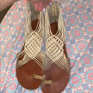 Size 9.5 knot gladiator sandals